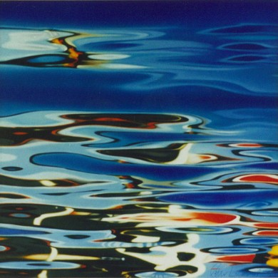 OIL ON WATER. 80cm X 80cm. $3,850.00