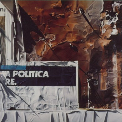 POLITICA. 1992. 140cm X 120cm. personal collection