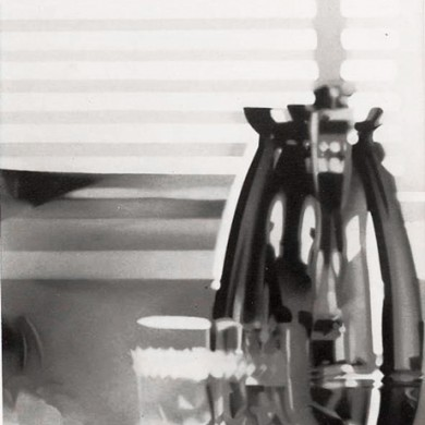 ROOM THROUGH A VASE. 1985. 95cm X 70cm. SOLD